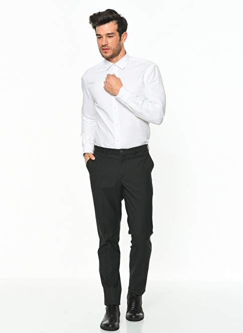 Daffari Slim Fit Dar Paça Kumaş Pantolon Yeşil